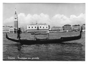 Italy Venezia Venice Panorama Gondola Vera Foto 4X6 Glossy Photo Postcard