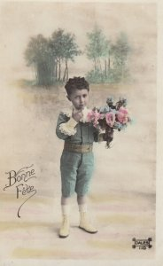 RP: Boy with Flowers , 00-10s : Bonne Fete ; #2