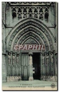Old Postcard Bordeaux Cathedrale Saint Andre Northern Door