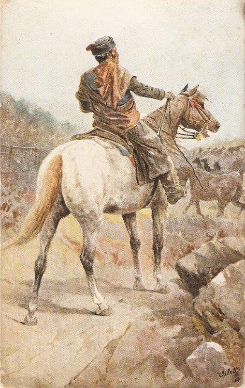 ·Frank Feller. .Life in Spain..The Spanish Farmer  Tuck Oilette PCC# 9363