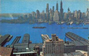 New York SKyline The Watchtower Headquarters Panorama Postcard