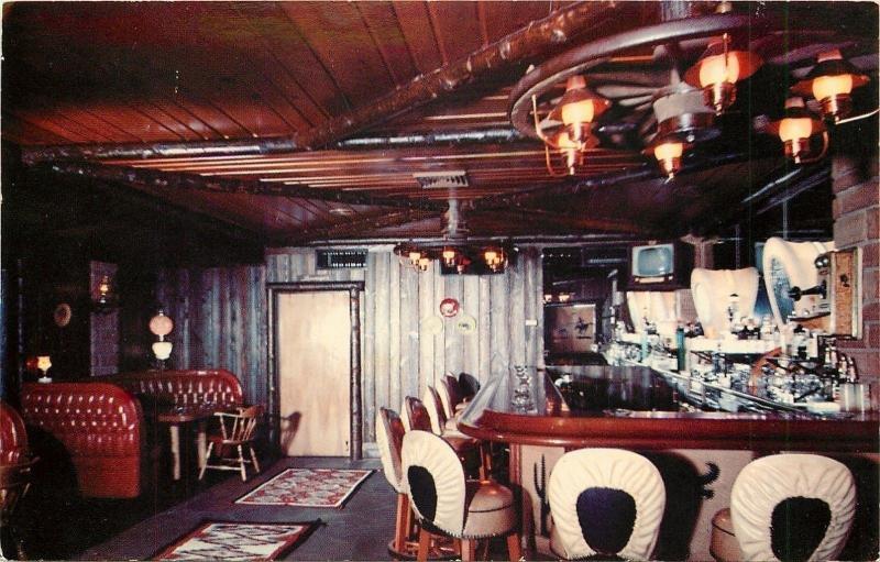 Phoenix Arizona~Western Village~Trails End Cocktail Lounge~Interior~1950s