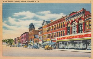 CONCORD , New Hampshire, 30-40s; Main Street, looking South, Woolworth's