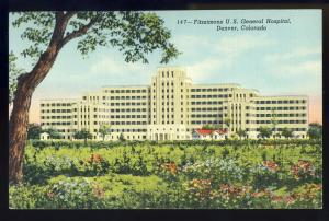 Denver,Colorado/CO Postcard,Fitzsimons U.S. General Hospital