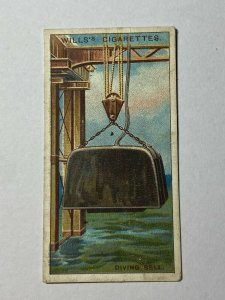 CIGARETTE CARD - WILLS INVENTIONS #50 DIVING BELL  (UU201)