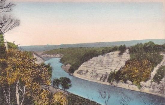 Genesee River High Banks Looking East Letchworth State Park P O Castile New Y...