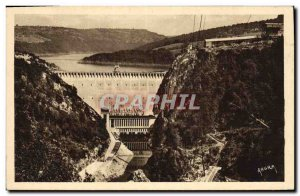 Old Postcard Electricity Valley of Truyere The dam Sarrans
