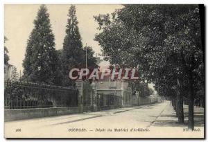 Old Postcard Bourges Army Depot hardware d & # 39artillerie