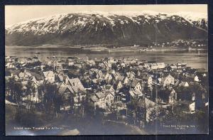 View of Tromsø from Alfheim Norway RPPC unused c1920's
