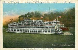Steamship Capitol, New Orleans, Louisiana, Harbor Sight-Seeing