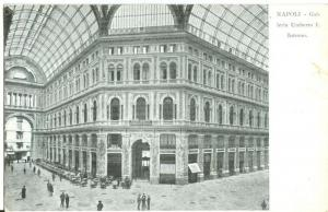 Italy, Napoli, Galleria Umberto interno, early 1900s