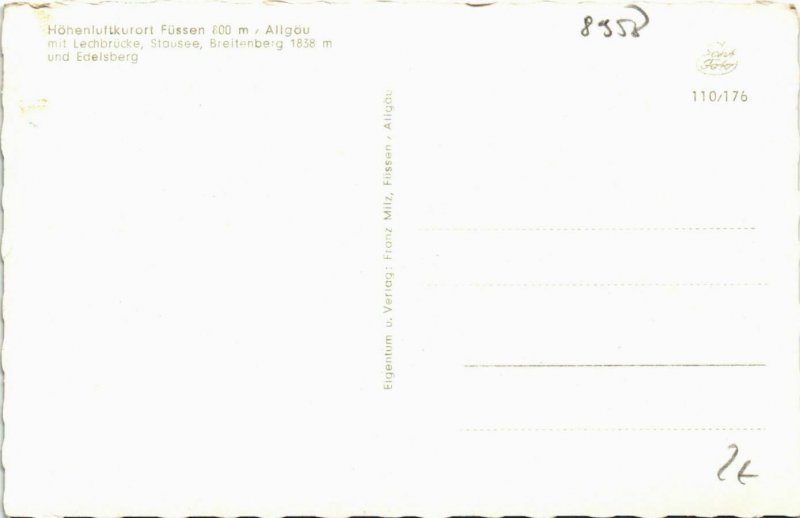 CPA AK Fussen- Lechbrucke,Staussee,Breitenberg GERMANY (940565)