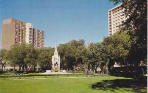 Central Park Monument, Honoring Emily Margaret Waddell, Winnipeg, Manitoba, C...