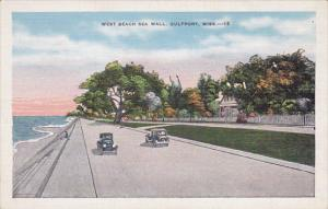 West Beach Sea Wall, Gulfport, Mississippi, 1930-40s