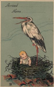 AS: BIRTHDAY , 00-10s ;Stork & Baby , PFB 8772 : #6
