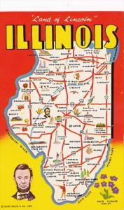 Map Of Illinois Land Of Lincoln