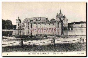 Old Postcard Chateau De Chantilly Cote Sud Ouest