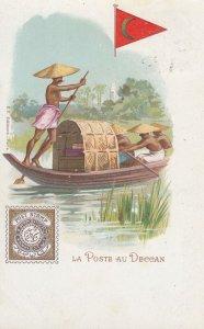 La Poste au DECCAN , India , 1902