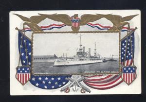 U.S. NAVY BATTLESHIP SHIP USS KENTUCKY WALDON FAWCETT OLD MILITARY POSTCARD