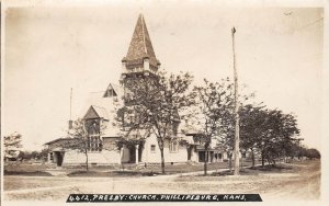 LP15 Phillipsburg Kansas RPPC  Postcard Presbyterian Church