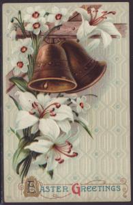 Easter Greetings,Bells,Liles