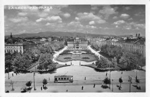 Zagreb Croatia King Tomislav Square Real Photo Antique Postcard J77843