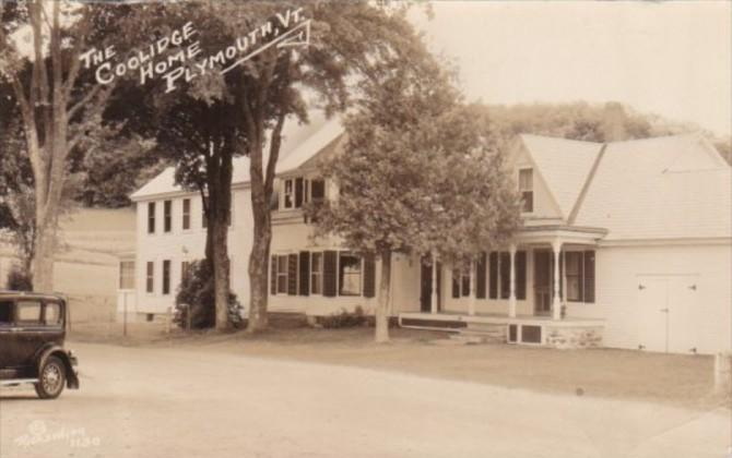 Vermont Plymouth The Coolidge Home 1935 Real Photo