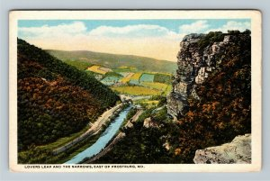 Frostburg MD-Maryland, Lovers Leap & The Narrows, Vintage Postcard