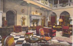 Florida Sarasota Living Room John & Mable Ringling Residence Curteich