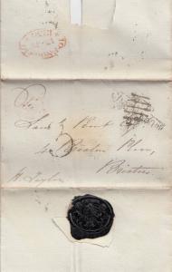 1830 Toronto to Brixham Devon Medieval Victorian Ephemera