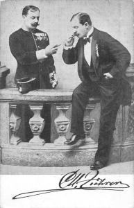 Men Smoking Cigar Antique Postcard J76202