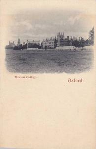 Oxford , England , 00-10s ; Merton College