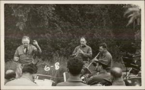 Military Music Orchestra Conductor Smoking Cigar Canton NY Written on Back RP