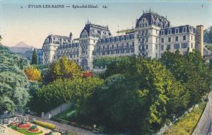 EVIAN LES BAINS, Haute Savoie, France, 1900-1910's; Splendide Hotel, Aerial View