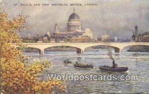 United Kingdom, UK, England, Great Britain St Paul's & New Waterloo Bridge Lo...