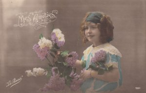 RP: Mes Amites , Girl with Flowers, 00-10s