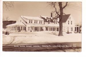 Real Photo, Glad Elms Guest House, Route 1, Winter, Lincolnville Beach, Maine