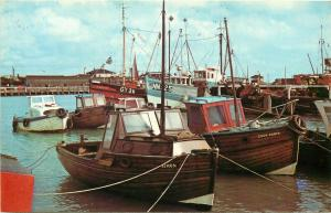 The Harbour, Newhaven boats postcard