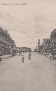 James Street Hyderabad Indian Antique Postcard