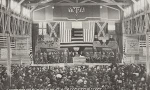 CAMP LEE, Virginia, 1910-20s; Interior of Y.M.C.A. Auditorium