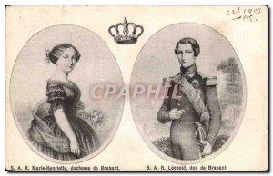 Old Postcard HRH Duchess of Brabant Marie Henriette Leopold Duke of Brabant