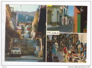 ATHENS, 3-View, Plaka, Outdoor Market, Commercial Street, Stairs, Greece, 40-60s