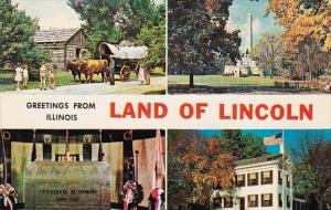 Illinois Springfield Greetings From Illinois Land Of Lincoln