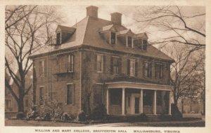 WILLIAMSBURG, Virginia, 1900-10s; William and Mary College, Brafferton Hall