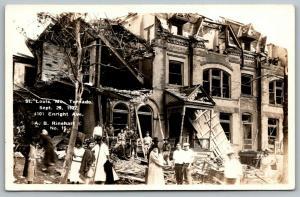 St Louis MO~4101 Enright Ave~Homeless Black Family~Boy Scouts~1927 Tornado~RPPC