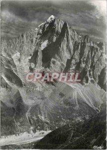 Modern Postcard Chamonix Haute Savoie La Mer de Glace Aiguille Verte