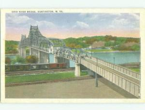 Unused Linen BRIDGE SCENE Huntington West Virginia WV HQ9946