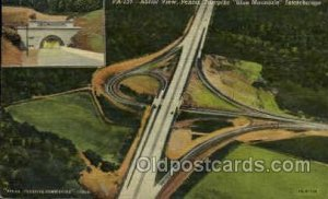 The Blue Mountain Interchange Turnpike, PA, Pennsylvania, USA Turnpike 1945 l...