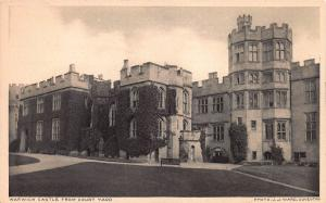Warwickshire Castle from Courtyard, England, Early Postcard, Unused