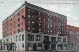Iowa Cedar Rapids The Montrose Hotel 1911